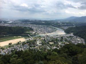 岩国城天守閣からの眺め
