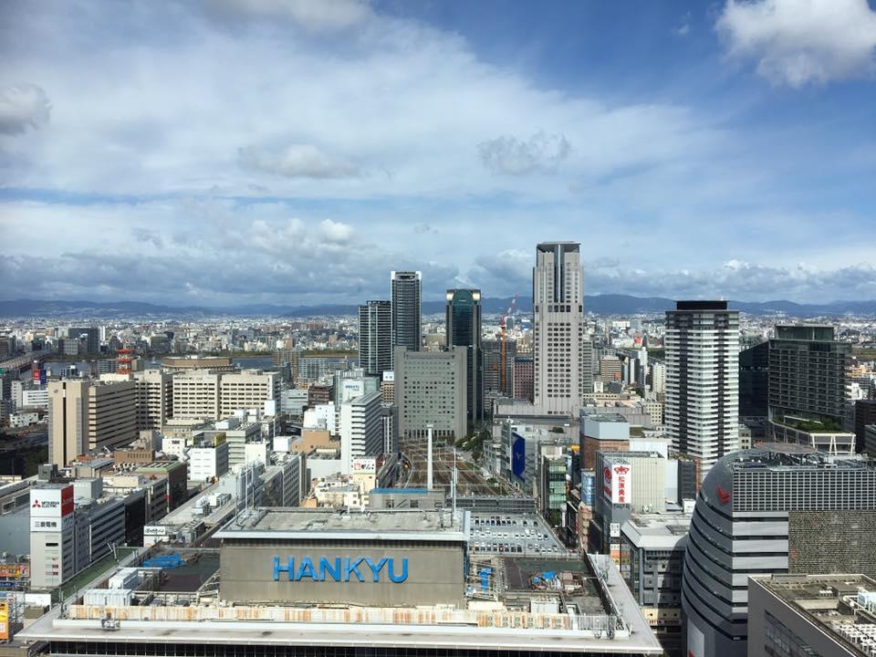 阪急空庭ダイニング32番街29階からの眺め